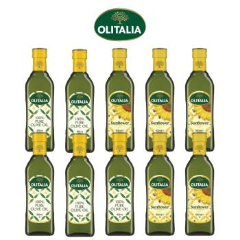 奧利塔純橄欖油500毫升*5罐、奧利塔頂級葵花油500毫升*5罐