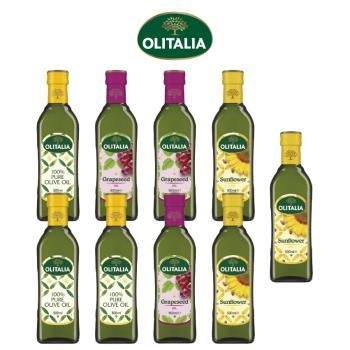 奧利塔純橄欖油500ml*3罐+葡萄籽油500ml*3罐+頂級葵花油500ml*3罐
