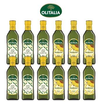 奧利塔純橄欖油500毫升*6罐、奧利塔頂級葵花油500毫升*6罐
