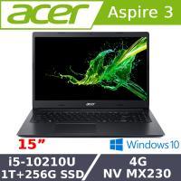 Acer宏碁 A315-55G-52YR 戰鬥筆電 15吋/ i5-10210U/ 4G/ 1T+PCIe 256G SSD/ MX230/ W10 紳士黑