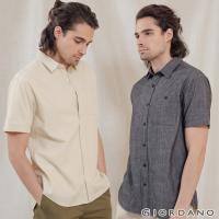 GIORDANO 男裝純棉口袋短袖襯衫 (多色任選)
