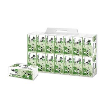 綠荷柔韌抽取式花紋衛生紙100抽X112包/箱X2