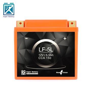【Super Battery 勁芯】機車擋車專用鋰鐵電池5號 LF-5L(150CC以下適用)