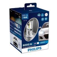PHILIPS 飛利浦 X-treme Ultinon超晶亮LED H4頭燈兩入裝(公司貨)