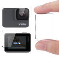 CITY for GoPro Hero5/6/7共用 相機鏡頭+觸控螢幕保護貼精美盒裝- 2入