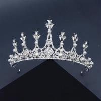 【米蘭精品】髮飾水鑽皇冠-珍珠璀璨水晶幾何頭飾73xr6