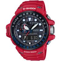 CASIO G-SHOCK GULFMASTER 極限時空太陽能GPS電波男錶-紅黑(GWN-1000RD-4A)
