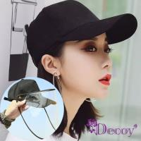 【Decoy】可拆透視*防曬遮陽防塵棒球帽 2色(防疫防飛沫/肺炎)