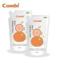日本Combi 植物性奶瓶蔬果洗潔液補充包促銷組