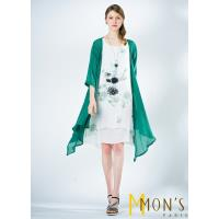 MONS 品味生活棉麻二件式洋裝