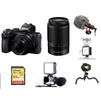 Nikon Z50+DX 16-50mm+DX 55-250mm 雙鏡組 Vlog Youtuber 網紅 影音 套裝組