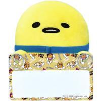 蛋黃哥汽車留言板絨毛娃娃玩偶吸盤留言板 ST10413【卡通小物】