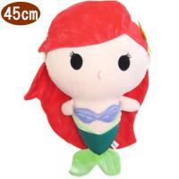 迪士尼公主小美人魚愛麗兒絨毛娃娃玩偶Q版款45公分 173825【卡通小物】