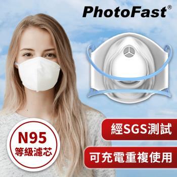 防疫必備↘PhotoFast 口罩型 智慧行動空氣清淨機 AM-9500(內附兩片專用濾芯) N95等級