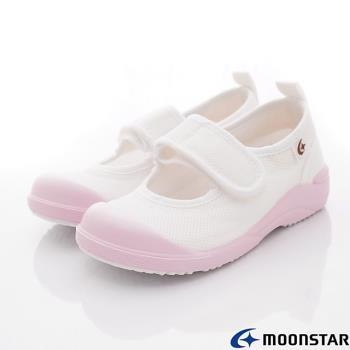MOONSTAR-日本月星頂級童鞋 日本制絆帶室內鞋- MSCN024粉-15~21cm