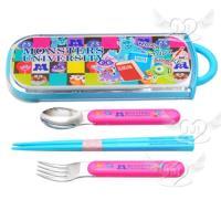 怪獸大學筷子湯匙叉子3合1餐具組日本製 249150【卡通小物】