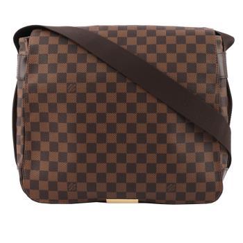 LV 棋盤格下蓋 王建民斜背書包(咖啡色) N45258_展示品