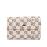 LV 棋盤格 13卡三折式中夾 (白色) N63068_展示品