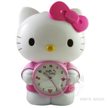 Hello Kitty 立體公仔靜音貪睡鬧鐘/貓頭小夜燈 JM-F499KT