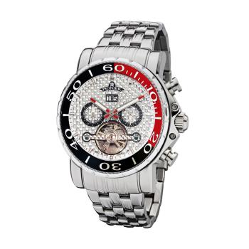 PIONIER GM-506時尚紳士機械款男士鋼帶手錶 - 銀色 506-8