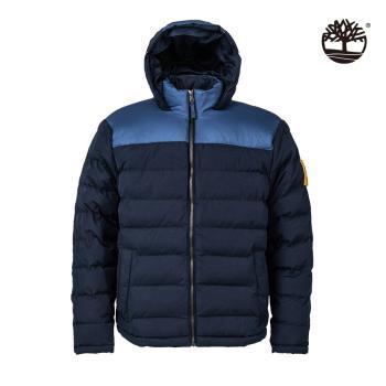 Timberland 男款深寶石藍保暖連帽外套A2ET1433