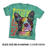 【摩達客】美國進口The Mountain 彩繪愛波士頓梗犬 純棉環保短袖T恤