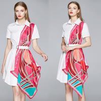 【歐風KEITH-Will 】 (預購) 歐洲站拼接特色印花洋裝