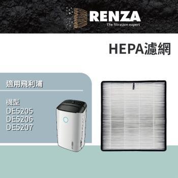 RENZA瑞薩濾網 適用Philips DE5205 DE5206 DE5207 可替換飛利浦FY1119 空氣清淨機濾芯