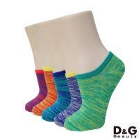 ★$1帶走★DG時尚亮彩紋直角女踝襪(一雙/隨機出貨)