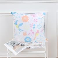 HONE棉紗方型小抱枕/靠墊(45x45cm)_花鳥