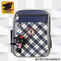 (UnMe)台灣製專櫃書包/減壓書包/中高年級適用(藍格3214)