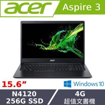Acer宏碁 A315-34-C76J 文書筆電 15吋/N4120/4G/PCIe 256G SSD/W10 紳士黑