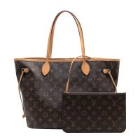 【Louis Vuitton】展示品 Monogram Neverfull MM 肩背購物包(M40995-米色)