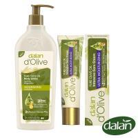 【土耳其dalan】頂級橄欖油高效滋養身體修護乳液400ml+橄欖油專業手足強效滋養修護霜20mlX2