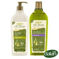 【土耳其dalan】頂級橄欖油茉莉花PH5.5舒爽沐浴露400ml+橄欖油高效滋養身體修護乳液400ml