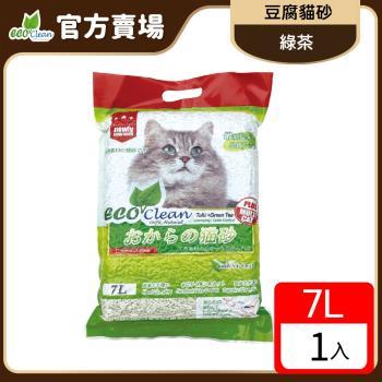 ECO艾可-豆腐貓砂7L-綠茶-單包入