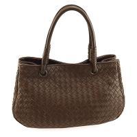 振興券優惠⭐BOTTEGA VENETA 咖啡色編織羊皮手提肩背兩用雙層托特包(展示品)