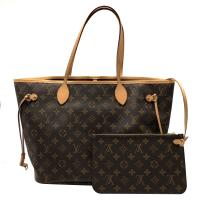 【Louis Vuitton】展示品  Monogram Neverfull MM 肩背購物包(M41177-櫻桃紅)
