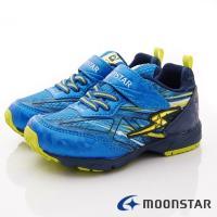 MOONSTAR-日本月星頂級童鞋-閃電競速系列- SSJ9915藍-18~21cm(中大童段)