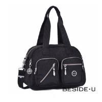 【BESIDE-U】Letter系列 3way時尚休閒側背包/ 手提包/ 肩背包(黑色、岩石棕)