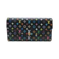 【Louis Vuitton】展示品 村上隆黑彩釦式長夾(M60668-黑)