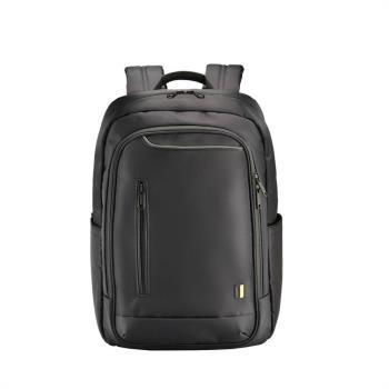 SUMDEX 都會商務雙肩電腦黑色後背包 16″ PON-161BK