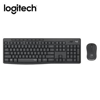 【Logitech 羅技】MK295 靜音鍵鼠組-石墨灰