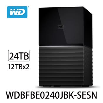 WD威騰 My Book Duo 24TB(12TBx2)USB3.1 3.5吋雙硬碟儲存 WDBFBE0240JBK-SESN