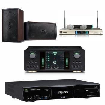 音圓 S-2001 N2-550 卡拉OK點歌機 4TB+FNSD NO-1 擴大機+MR-300D IV 無線麥克風+FNSD SD-305 主喇叭