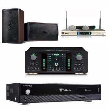 金嗓 CPX-900 A3 智慧點歌伴唱機 4TB+FNSD NO-1 擴大機+MR-300D IV 無線麥克風+FNSD SD-305 主喇叭