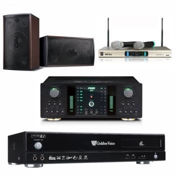 金嗓 CPX-900 R2電腦伴唱機 4TB+FNSD NO-1 擴大機+MR-300D IV 無線麥克風+FNSD SD-305 主喇叭