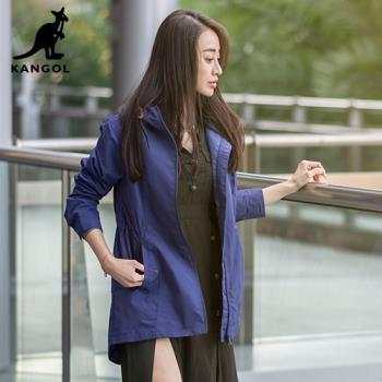 【英國KANGOL】專櫃款機能風衣外套-紫色