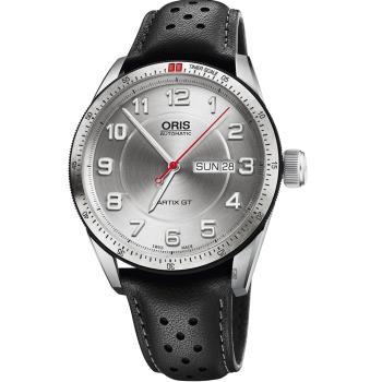 Oris 豪利時 Artix GT Day Date 機械手錶-銀/42mm 0173576624461-0752187FC