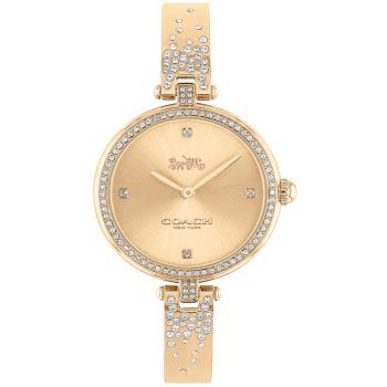 COACH 典雅晶鑽手環式腕錶/玫瑰金/29mm/CO14503651